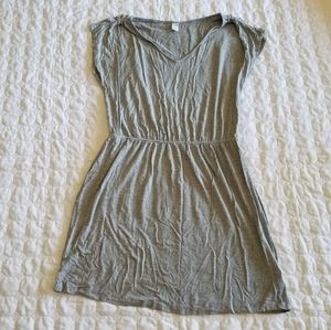 Old Navy Gray Cotton Dress